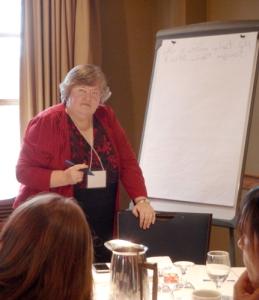 Kathleen hosting social media discussion.